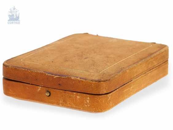 """Taschenuhr: exquisites und sehr seltenes Observatoriums-Chronometer mit Chronograph, Le Roy & Cie, """"Chronometer de Observatoire National de Besancon"""", Chronograph und 30-Minuten-Register, um 1920, Originalbox - photo 2"""