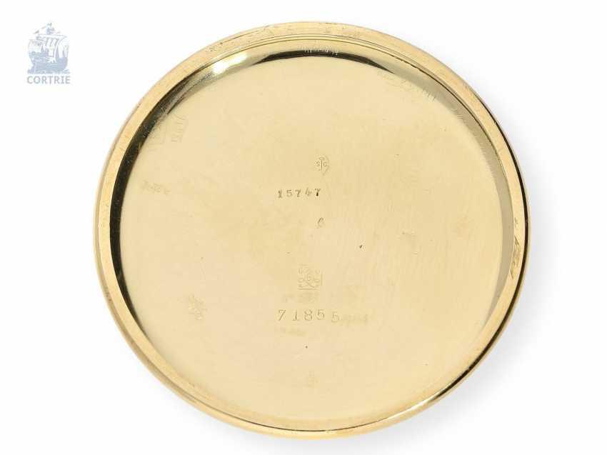 """Taschenuhr: exquisites und sehr seltenes Observatoriums-Chronometer mit Chronograph, Le Roy & Cie, """"Chronometer de Observatoire National de Besancon"""", Chronograph und 30-Minuten-Register, um 1920, Originalbox - photo 3"""