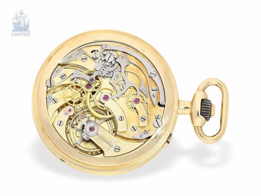 """Taschenuhr: exquisites und sehr seltenes Observatoriums-Chronometer mit Chronograph, Le Roy & Cie, """"Chronometer de Observatoire National de Besancon"""", Chronograph und 30-Minuten-Register, um 1920, Originalbox - photo 7"""
