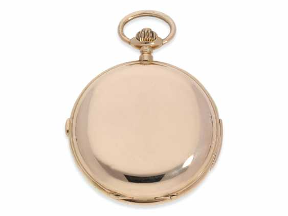Pocket watch: very large and heavy, astronomical gold savonnette with 6 complications, including minute repeater, Maurice Ditisheim, La Chaux-de-Fonds, No. 12454, CA. 1890 - photo 2