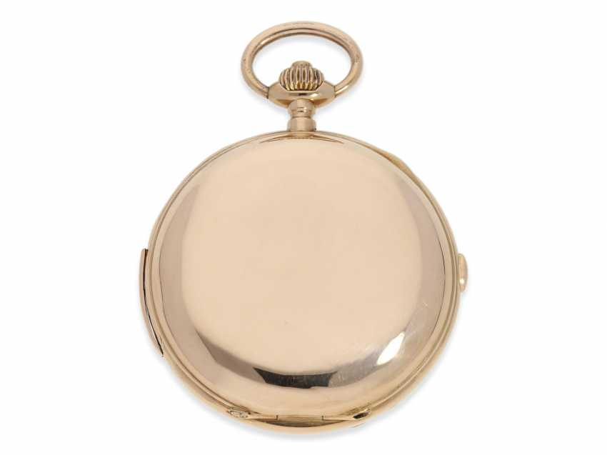Pocket watch: very large and heavy, astronomical gold savonnette with 6 complications, including minute repeater, Maurice Ditisheim, La Chaux-de-Fonds, No. 12454, CA. 1890 - photo 3