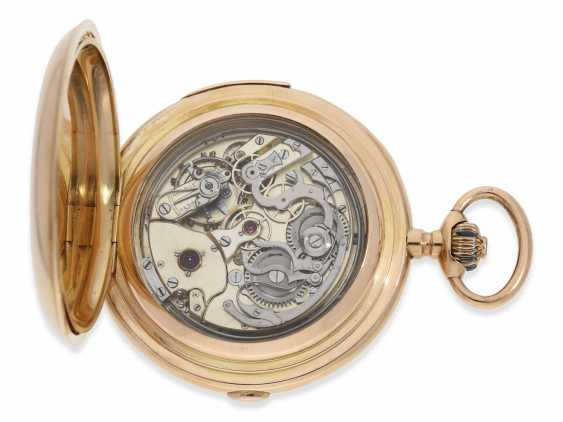 Pocket watch: very large and heavy, astronomical gold savonnette with 6 complications, including minute repeater, Maurice Ditisheim, La Chaux-de-Fonds, No. 12454, CA. 1890 - photo 5