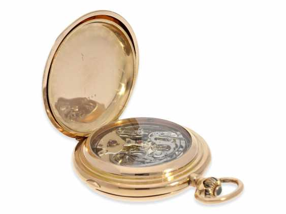 Pocket watch: very large and heavy, astronomical gold savonnette with 6 complications, including minute repeater, Maurice Ditisheim, La Chaux-de-Fonds, No. 12454, CA. 1890 - photo 6