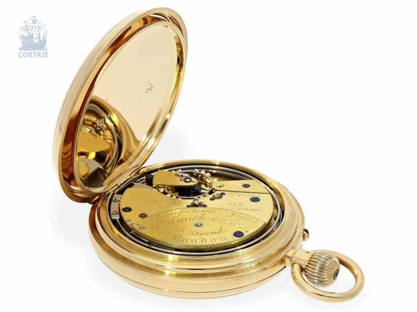 Pocket watch: important English KEW Observatory chronometer with a perpetual, astronomical calendar, minute repeater, chronometer maker Smith & Son London No. 14782, 1886 - photo 5