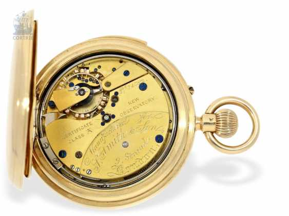 Pocket watch: important English KEW Observatory chronometer with a perpetual, astronomical calendar, minute repeater, chronometer maker Smith & Son London No. 14782, 1886 - photo 7