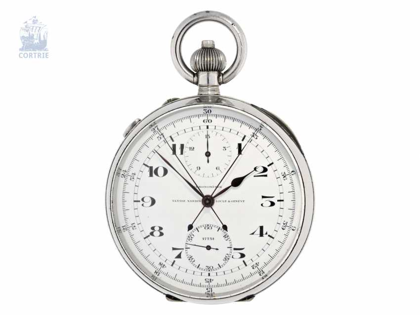 """Pocket watch/deck Watch: a highly fine Observation chronometer with split-seconds chronograph and 15-minute-counter, the so-called """"Split Seconds Deck Chronometer"""" Ulysse Nardin, No. 17751, C. 1940 - photo 1"""