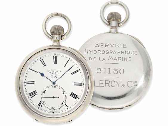 Pocket watch: extremely rare Observation chronometers for the French Navy, Leroy & Cie Paris No. 21150, CA. 1920 - photo 1