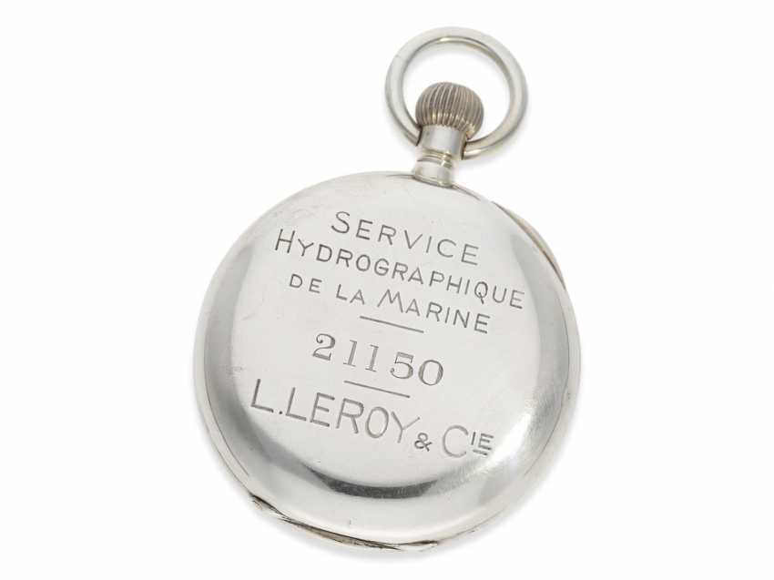 Pocket watch: extremely rare Observation chronometers for the French Navy, Leroy & Cie Paris No. 21150, CA. 1920 - photo 3