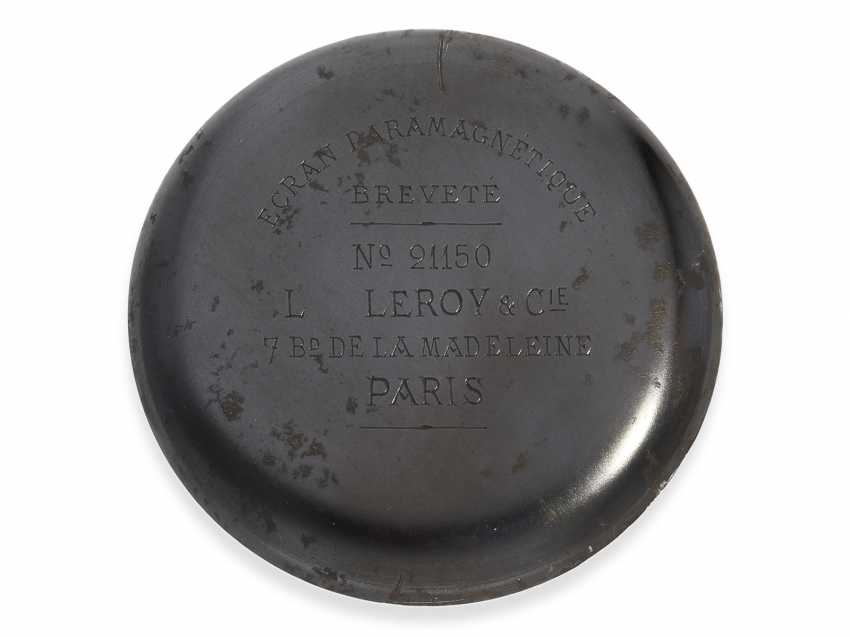 Pocket watch: extremely rare Observation chronometers for the French Navy, Leroy & Cie Paris No. 21150, CA. 1920 - photo 6