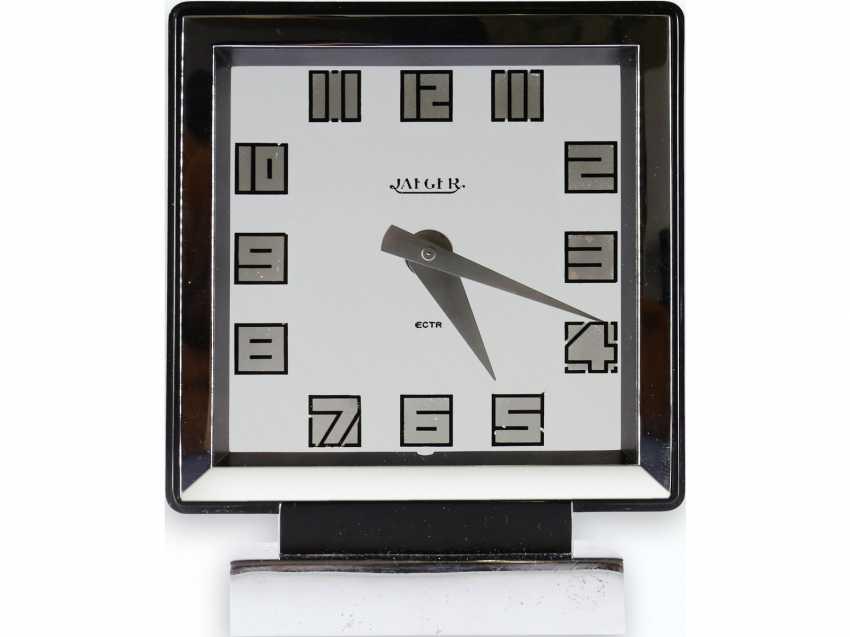"""Table clock: rare Jaeger-LeCoultre Art Deco clock, """"JAEGER PENDULETTE MYSTERIOUS """"- """"Electrique"""". Ref. 200, CA. 1935 - photo 1"""