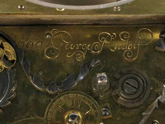 Desk clock: An early horizontal table clock with exceptional size and quality, George, Rudolf No. 1700, probably Gdansk, around 1670-1700 - photo 4