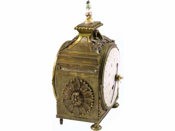 Desk clock/travel clock: a very rare, highly complicated officer's travel clock, probably Samuel Frederic R. No. 8732, Berlin at the end of 18. Century, watchmaker to the court of king Friedrich Wilhelm III of Prussia - photo 2