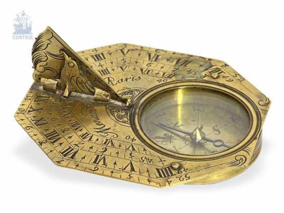 Sundial: a rare Equatorial sundial Butterfield dial, Menant Paris, 1700 - photo 1