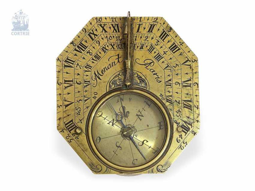 Sundial: a rare Equatorial sundial Butterfield dial, Menant Paris, 1700 - photo 2