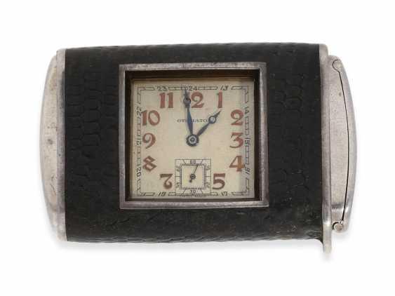 "Travel clock/pocket watch: extremely rare Hermès Art Deco travel clock, Hermes, Paris, ""Otomato"" Eclipse, CA. 1925 - photo 1"