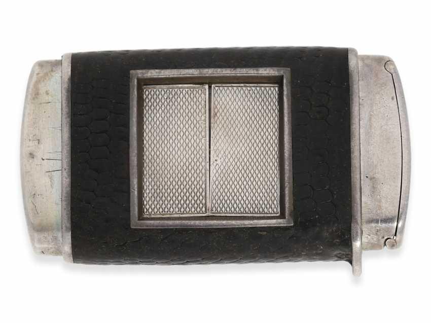 "Travel clock/pocket watch: extremely rare Hermès Art Deco travel clock, Hermes, Paris, ""Otomato"" Eclipse, CA. 1925 - photo 2"