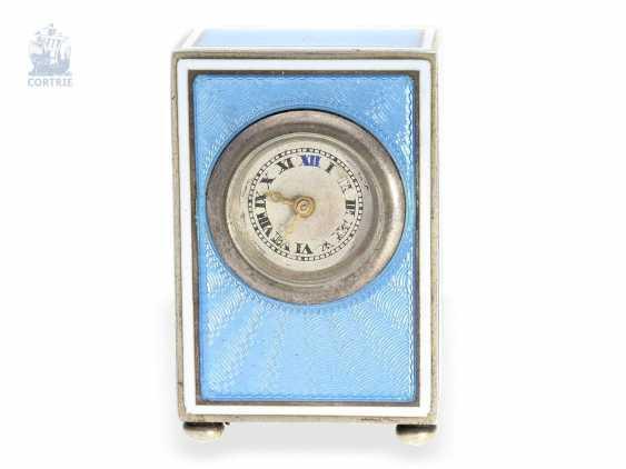 """Carriage clock: hochhfeine Art Nouveau """"Pendulette de voyage miniature"""", European Watch Company 57023/11572, probably for Cartier Paris, 1910 - photo 3"""