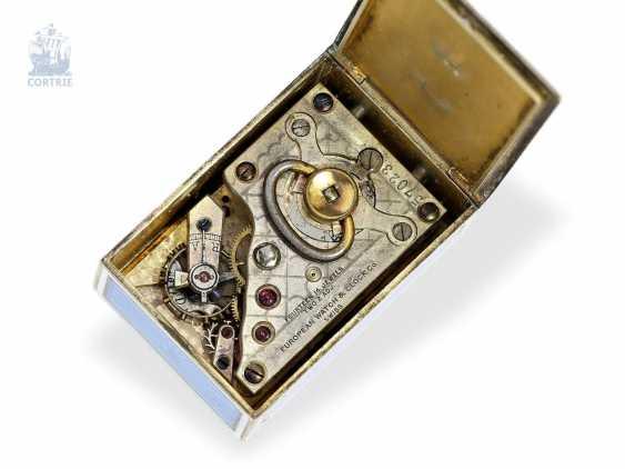 """Carriage clock: hochhfeine Art Nouveau """"Pendulette de voyage miniature"""", European Watch Company 57023/11572, probably for Cartier Paris, 1910 - photo 5"""