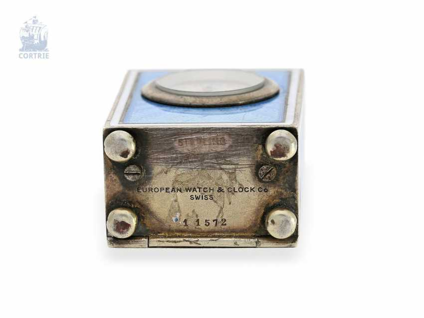 """Carriage clock: hochhfeine Art Nouveau """"Pendulette de voyage miniature"""", European Watch Company 57023/11572, probably for Cartier Paris, 1910 - photo 1"""