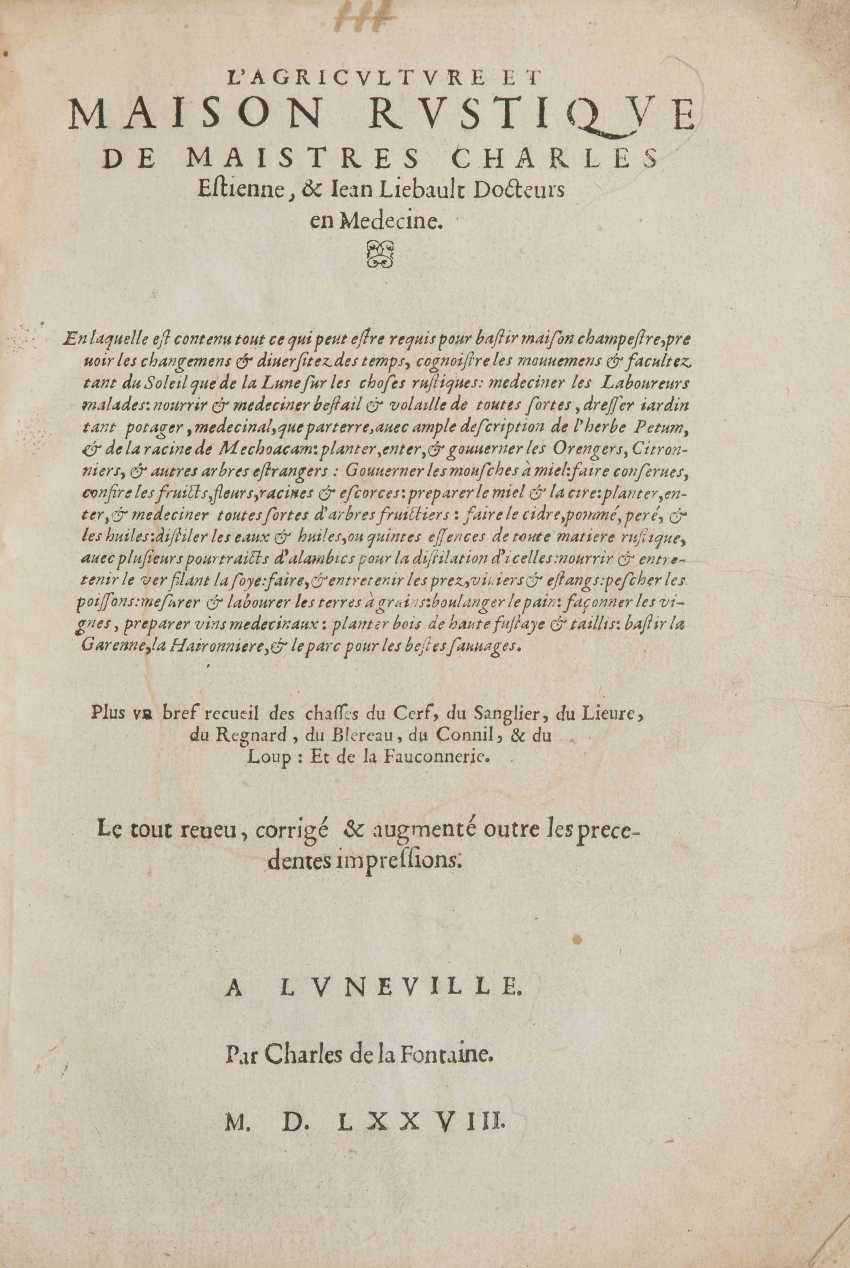 Estienne, Charles and Jean Liebault - photo 1