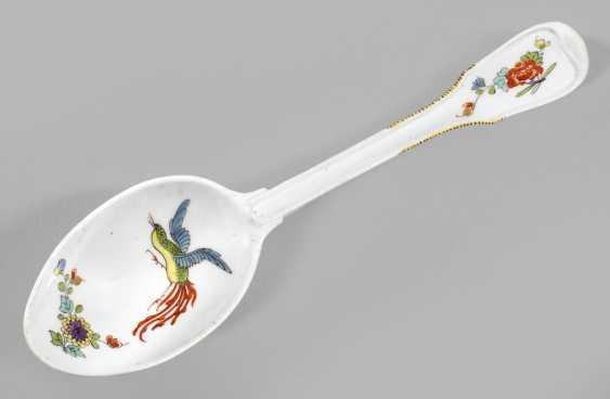 Rare large serving spoon with kakiemon decor - photo 1