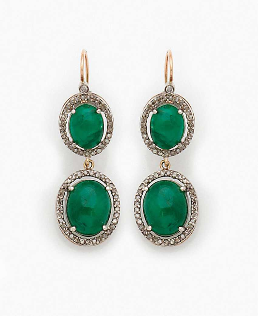 d30ed5ab9afa3 Lot 1053. Pair of Russian emerald earrings from the catalog