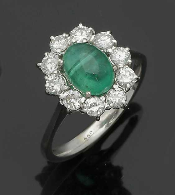Classic Emerald And Diamond Ring - photo 1
