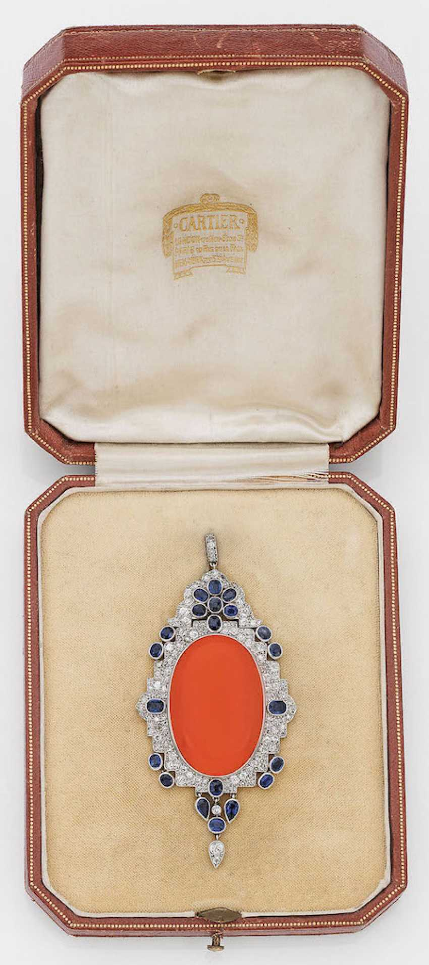 e6156751e70a6 Lot 1127. Extravagant Art Deco brooch pendant by Cartier from the ...