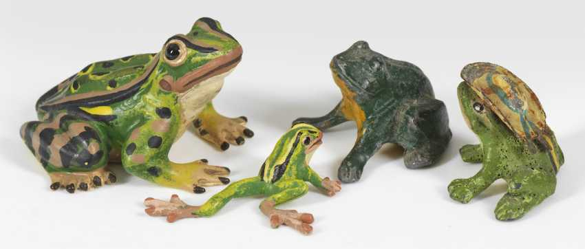 Four Frog Miniature Figurines - photo 1