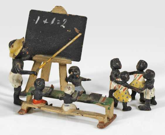 Two miniature groups of figures with African children - photo 1