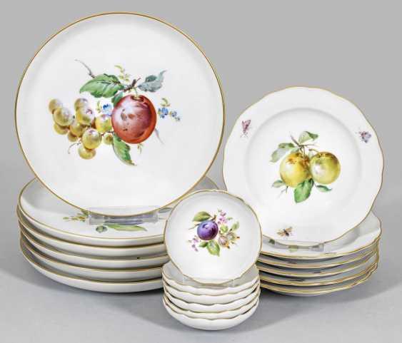 Twelve fruit plates and six storage bowls with Fruit design - photo 1