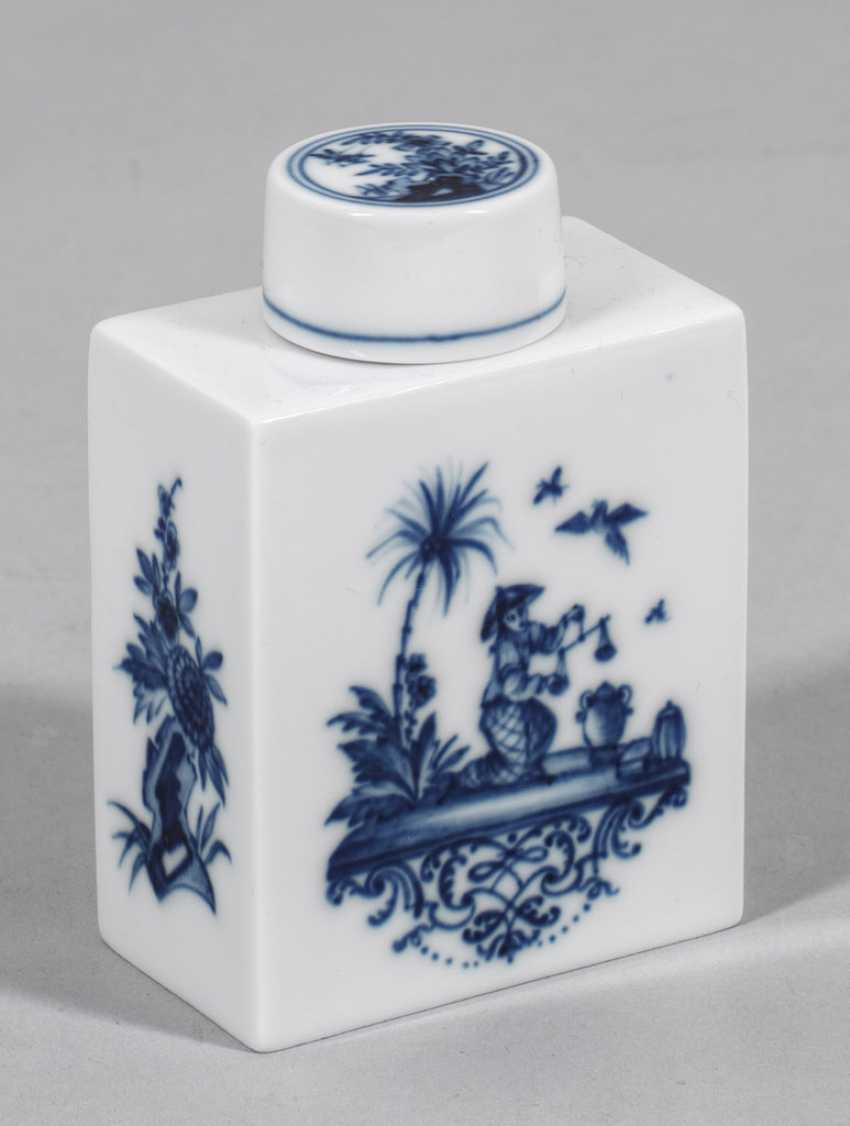 Tea caddy with Chinoiserien - photo 1