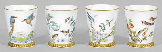 """Four cups with bird decor from the """"Museum gallery"""" - photo 1"""