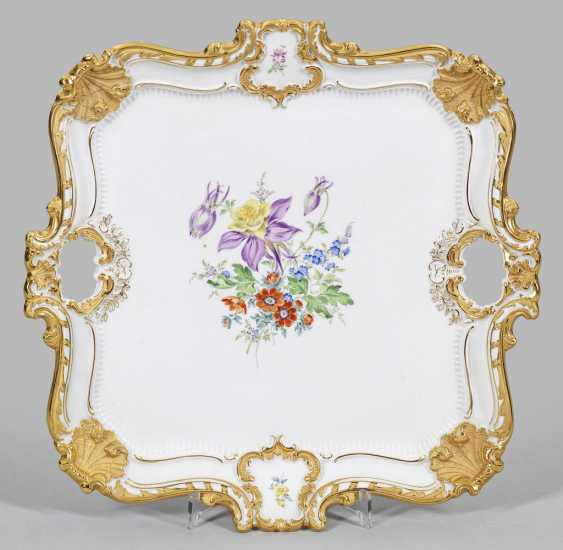 Large ceremonial tray with floral decor - photo 1
