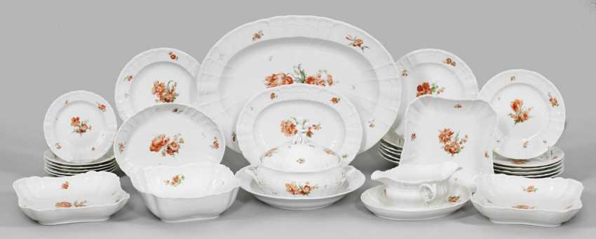 Dinner service with floral decoration - photo 1
