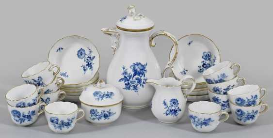 """Mocha service décor """"blue flower"""" - photo 1"""