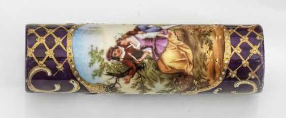 Belle Epoque-stick handle with Watteau scenes - photo 1
