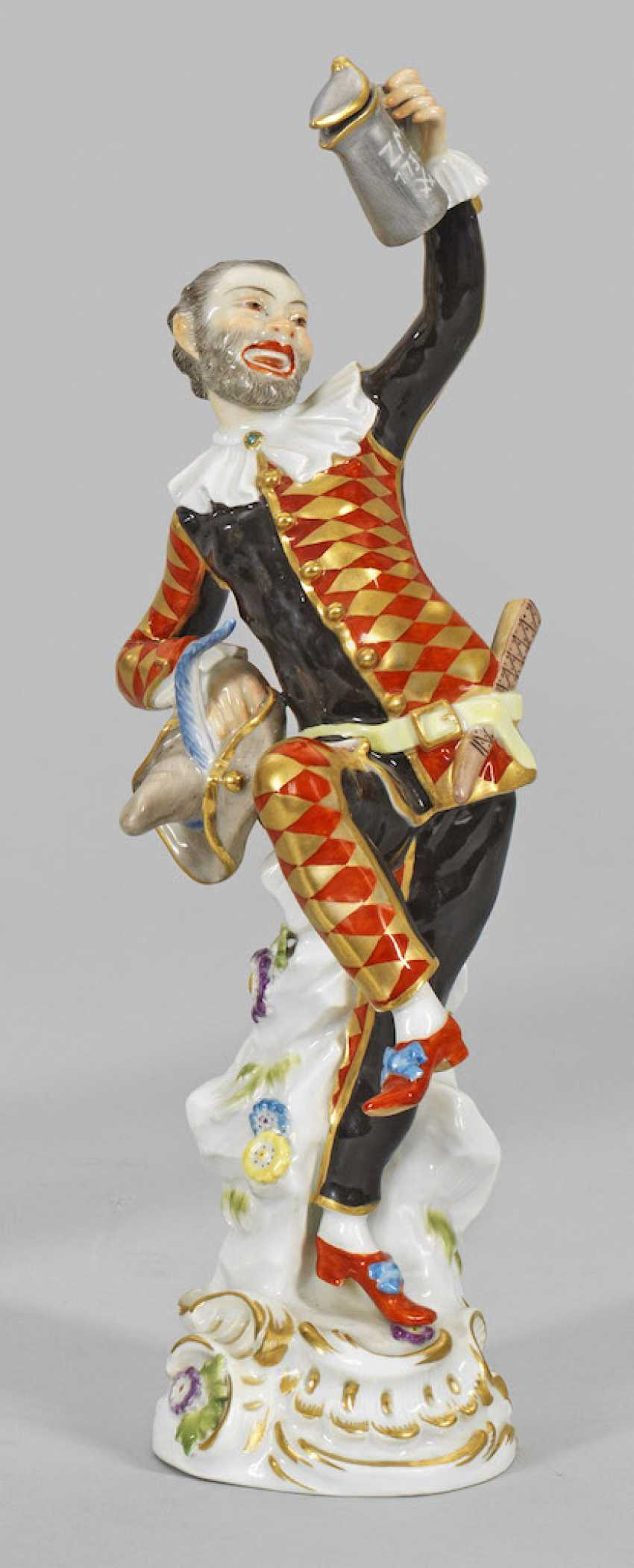 Dancing harlequin with lid pot - photo 1