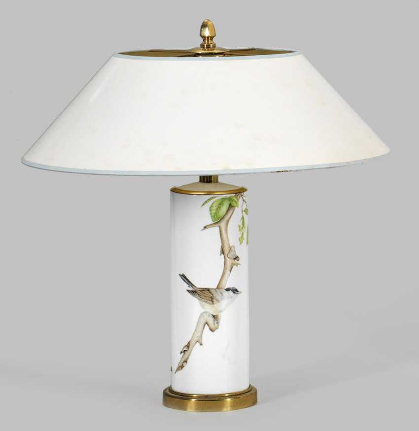 Table lamp with a painting of Brigitte Holtz - photo 1