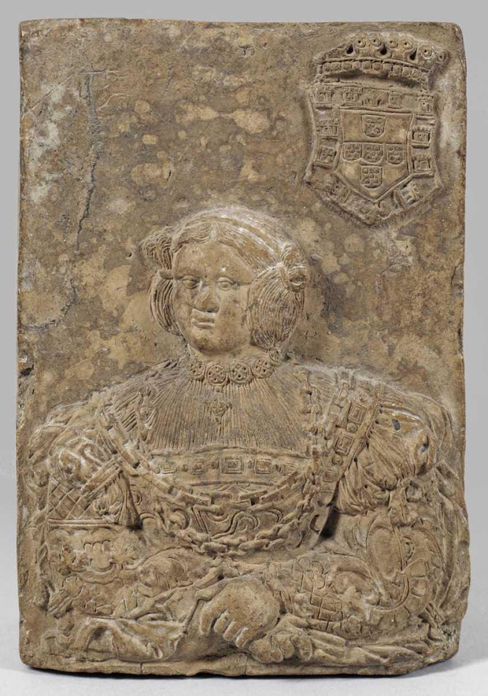 Renaissance-relief tile with portrait of a young Nobleman - photo 1