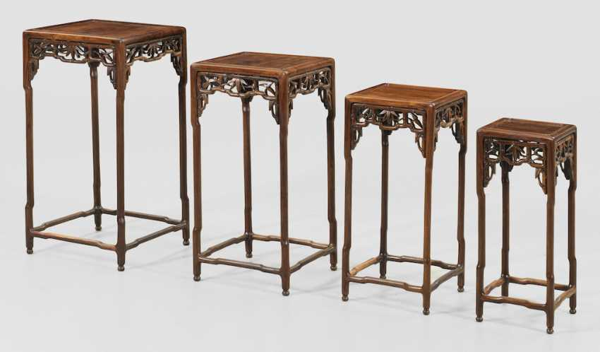 Chinese Side Table.Lot 3000 Set Of Chinese Side Tables From The Catalog Auction 174