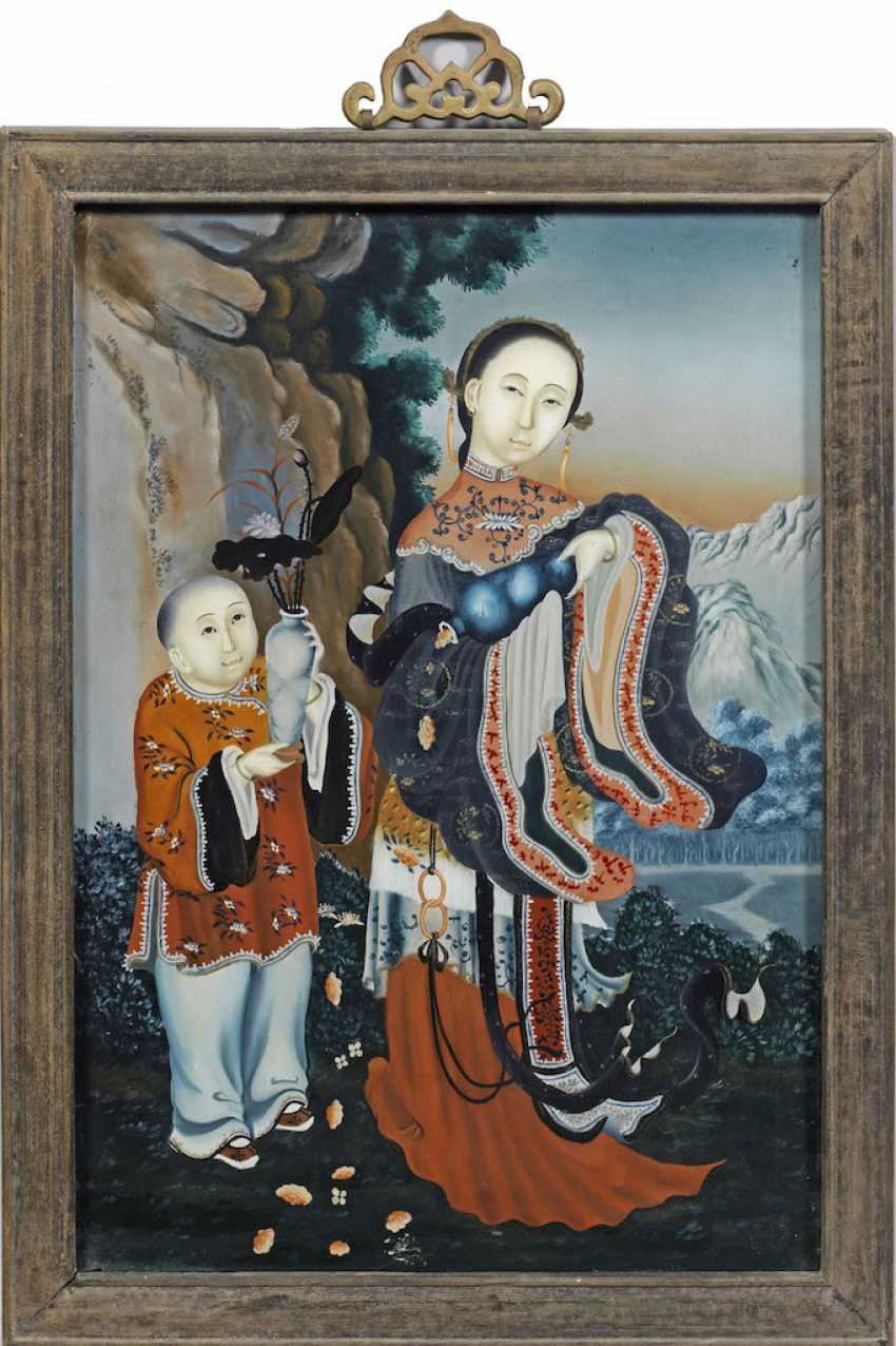 Chinese Painting On Glass - photo 1