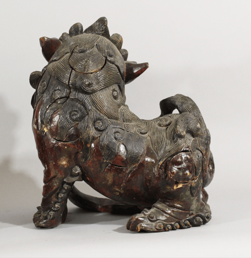 A pair of Chinese wooden Fo Lions - photo 3