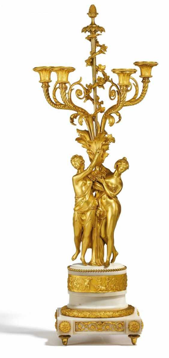 Large Pair of candelabra, but with dancing nymphs - photo 3