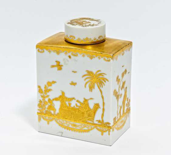 Tea caddy with gold Chinese - photo 1