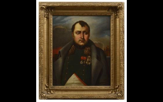 Russian school of the Nineteenth century. The emperor Napoleon...