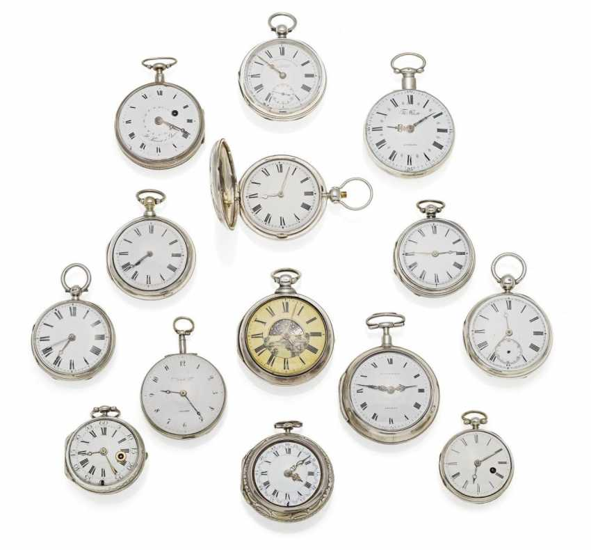 GROUP OF FIVE-TEN POCKET WATCHES - photo 1
