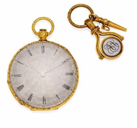 Pocket watch. Hand lift. 585/- yellow gold - photo 1