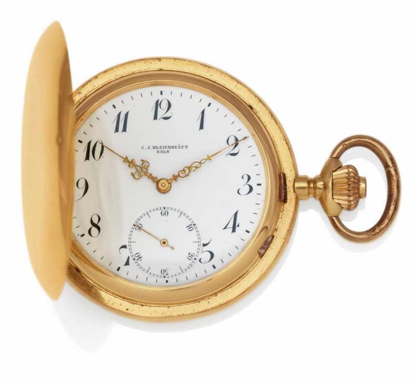 Pocket watch. Hand lift. 750/- rose gold - photo 1