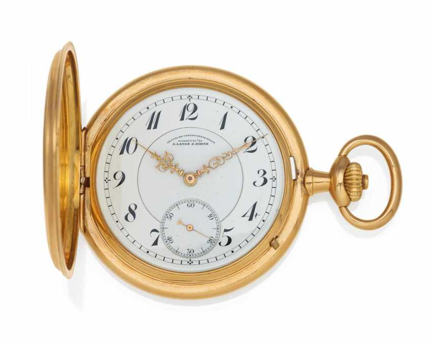 Pocket watch. Hand lift. 585/- rose gold - photo 1